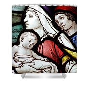 Flight To Egypt Stained Glass Shower Curtain