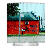 Flippa City  Shower Curtain