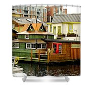 Float Home Fishermans Wharf Shower Curtain