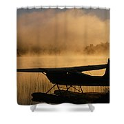 Float Plane, Long Lake, Sudbury, Ontario Shower Curtain