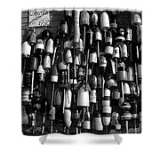 Floaters Bw Shower Curtain