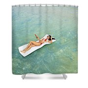 Floating At Sea Shower Curtain