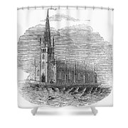 Floating Church, 1849 Shower Curtain