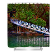 Floating Dock Shower Curtain