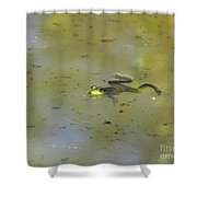 Floating Frog Shower Curtain