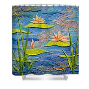 Floating Lilies Shower Curtain
