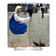 Floating Man Shower Curtain