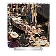 Floating Market Bangkok Shower Curtain