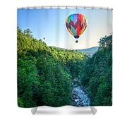 Floating Over Quechee Gorge Shower Curtain