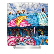 Floating Thru Mardi Gras Shower Curtain by Steve Harrington