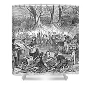 Flood Of Fish, 1867 Shower Curtain