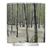 Flooding River Shower Curtain