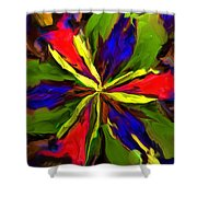 Floral Abstraction 090312 Shower Curtain