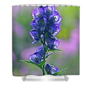 Floral Crystal Shower Curtain