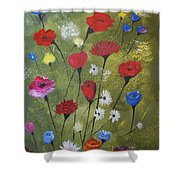 Floral Fields Shower Curtain