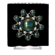 Floral Jewel Shower Curtain