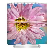 Floral 'n' Water Art 5 Shower Curtain