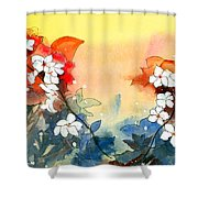Floral Neklace Shower Curtain by Anil Nene
