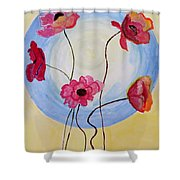 Floral Orb Shower Curtain