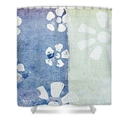 Floral Pattern On Old Grunge Paper Shower Curtain by Setsiri Silapasuwanchai