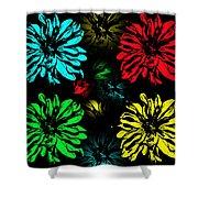 Floral Pop Art Shower Curtain