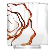 Floral Rust Shower Curtain