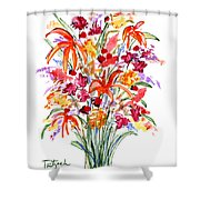 Floral Six Shower Curtain