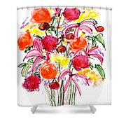 Floral Thirteen Shower Curtain