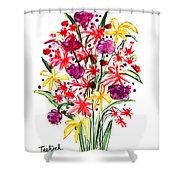 Floral Three Shower Curtain