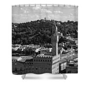 Florence - Black And White Shower Curtain