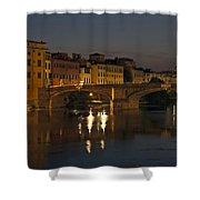 Florence - Ponte San Trinita Shower Curtain