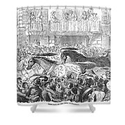 Florence: Horse Race, 1857 Shower Curtain