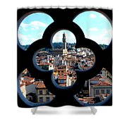 Florence Through A Unique Lens Shower Curtain