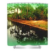 Florida Landscape Shower Curtain by Susanne Van Hulst