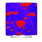 Flourescent Florals Shower Curtain