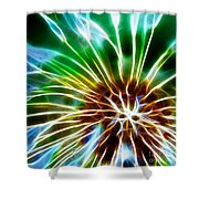 Flower - Dandelion Tears - Abstract Shower Curtain