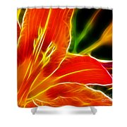 Flower - Lily 1 - Abstract Shower Curtain