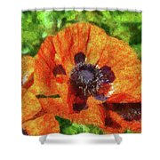 Flower - Poppy - Orange Poppies  Shower Curtain