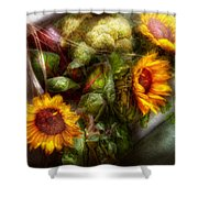 Flower - Sunflower - Gardeners Toolbox  Shower Curtain