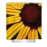 Flower - Yellow And Brown - Abstract Shower Curtain