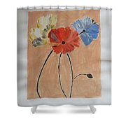 Flower And Bud Shower Curtain