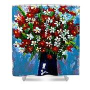 Flower Arrangement Bouquet Shower Curtain by Patricia Awapara