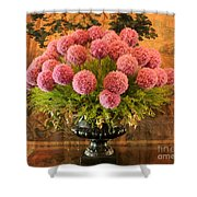 Flower Arrangement Chateau Chenonceau Shower Curtain