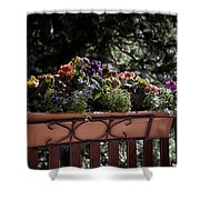 Flower Box Shower Curtain