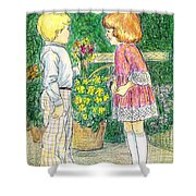 Flower Children Shower Curtain