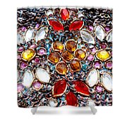 Flower Of Beads Shower Curtain