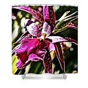 Flower Painting 0002 Shower Curtain