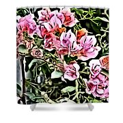 Flower Painting 0003 Shower Curtain