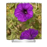 Flower Painting 0006 Shower Curtain