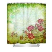 Flower Pattern On Paper Shower Curtain by Setsiri Silapasuwanchai
